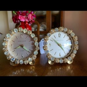 Set of Phinney Wallace boudoir alarm clocks